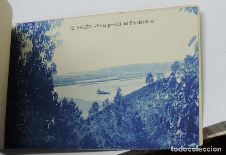 Postales: CUADERNILLO DE RECUERDO DE AVILES, ASTURIAS, 12 TARJETAS POSTALES, 1º SERIE, LIBRERIA LA ESPERANZA, - Foto 16 - 155573970