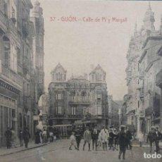 Postales: GIJÓN , CALLE PI Y MARGALL , ACTUAL MOROS. Lote 155627178
