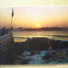Postales: GIJÓN (ASTURIAS) - PUESTA DE SOL (ESCRITA Y CIRCULADA). Lote 156607790