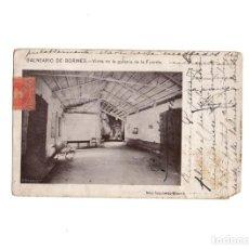 Postales: BALNEARIO DE BORINES.(ASTURIAS).- VISTA DE LA GALERIA DE LA FUENTE.. Lote 156903970
