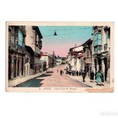 Postales: AVILÉS.(ASTURIAS).- CALLE DE JOSE M. PEDREGAL, COLOREADA.. Lote 156911610