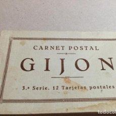 Postales: GIJÓN. CARNET POSTAL. 3 EDICION. Lote 157359486
