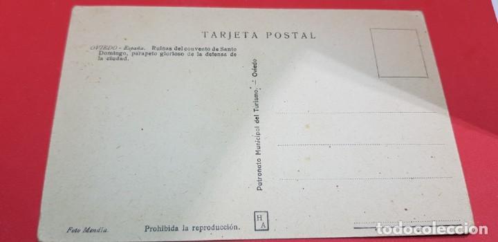 Postales: OVIEDO. RUINAS DEL CONVENTO DE SANTO DOMINGO,PARAPETO GLORIOSO DE LA DEFENSA DE LA CIUDAD - Foto 2 - 159888334