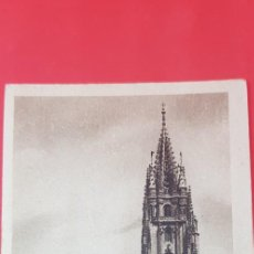 Postales: OVIEDO. AGUJA DE LA CATEDRAL ANTES DEL BOMBARDEO. Lote 159891518