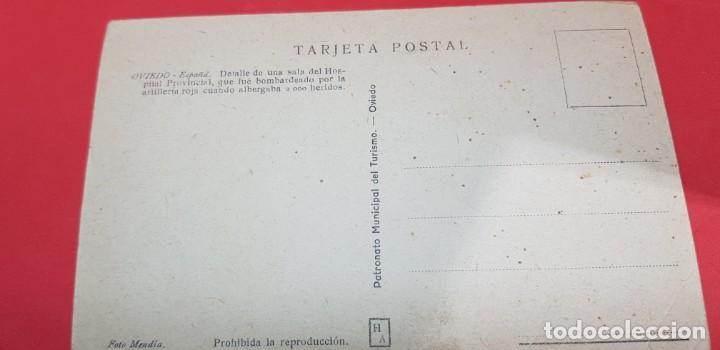 Postales: OVIEDO. DETALLE DE UNA SALA DEL HOSPITAL PROVINCIAL - Foto 2 - 159937310