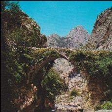 Cartes Postales: DESFILADERO DEL CARES, PUENTE EL HAYA, RUTA DEL NARANJO DE BULNES - EDICIONES ALCE Nº 280 - S/C. Lote 160011594
