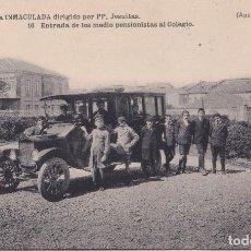 Postales: GIJON (ASTURIAS) - COLEGIO DE LA INMACULADA - PP JESUITAS - ENTRADA DE LOS MEDIO PENSIONISTAS AL COL. Lote 162327538