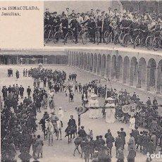 Postais: GIJON (ASTURIAS) - COLEGIO DE LA INMACULADA - PP JESUITAS - UN FESTIVAL. Lote 162327558