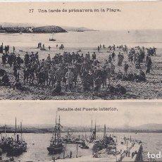 Postais: GIJON (ASTURIAS) - COLEGIO DE LA INMACULADA - PP JESUITAS - UNA TARDE DE PRIMAVERA EN LA PLAYA. Lote 162327578