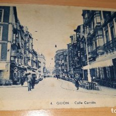 Postales: GIJON CALLE CORRIDA,CIRCULADA AÑO 1943. Lote 162504330