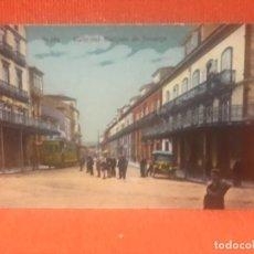 Postales: ASTURIAS. AVILES COLOREADA CALLE DEL MARQUÉS DE TEVERGA. SIN CIRCULAR. NO FIGURA EDITOR. TRANVIA.P. Lote 163303274