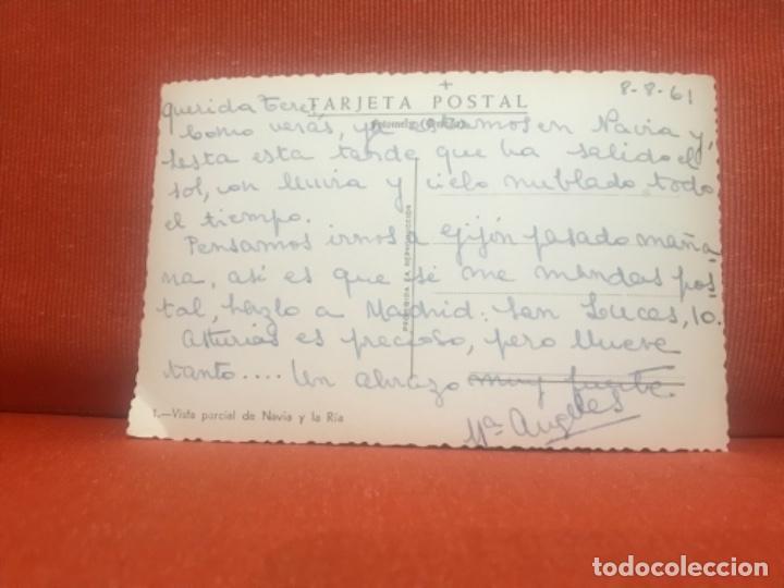 Postales: asturias curiosa postal fotomely vista parcial de navia y la ria unica sucia y desenfoques - Foto 2 - 163303406