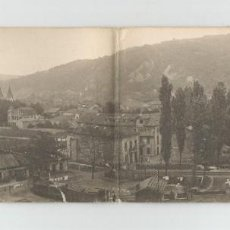 Postales: POSTAL PANORAMICA DOBLE DE LANGREO. 1-VISTA GENERAL DE SAMA-FOTOTIPIA THOMAS-6088-89 SIN CIRCULAR. Lote 163318626