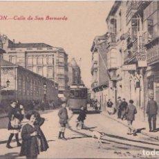 Postales: GIJON (ASTURIAS) - CALLE DE SAN BERNARDO - EDICIONES F. MATOS. Lote 164643258