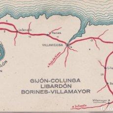 Postales: GIJON (ASTURIAS) - AUTO SALON GIJON-COLUNGA LIBARDON BORINES-VILLAMAYOR. Lote 164643402