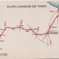 Cartes Postales: GIJON (ASTURIAS) - AUTO SALON GIJON-CANGAS DE TINEO. Lote 164643410