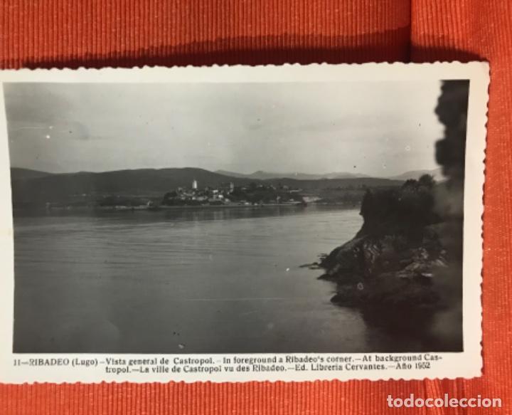 VISTA GENERAL DE CASTROPOL ASTURIAS DESDE RIBADEO LUGO P 11 LIBRERIA CERVANTES 1952 (Postales - España - Asturias Moderna (desde 1.940))
