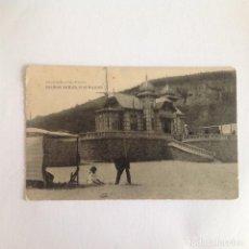 Postales: POSTAL SALINAS. AVILÉS. ASTURIAS. CLUB NAUTICO. LIBRERÍA ESCOLAR. FOTOTIPIA HAUSER Y MENET. 1920. Lote 165043370
