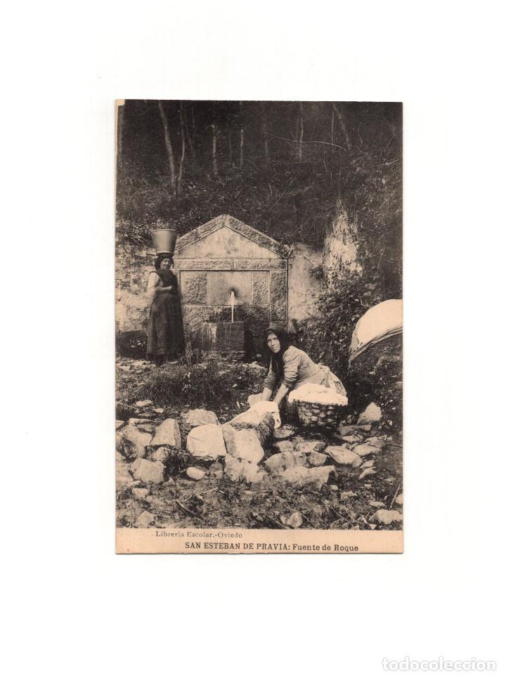 SAN ESTEBAN DE PRAVIA.(ASTURIA).- FUENTE DE ROQUE. (Postales - España - Asturias Antigua (hasta 1.939))