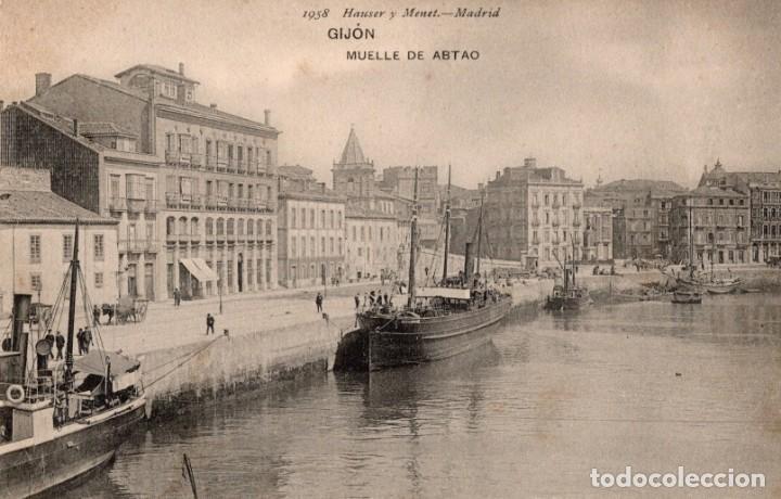 GIJON. MUELLE DE ABTAO. H Y M 1958 (Postales - España - Asturias Antigua (hasta 1.939))