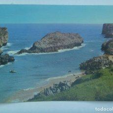 Postales: POSTAL CUE, LLANES ( ASTURIAS ): PLAYA DE ANTILLES. Lote 165814214