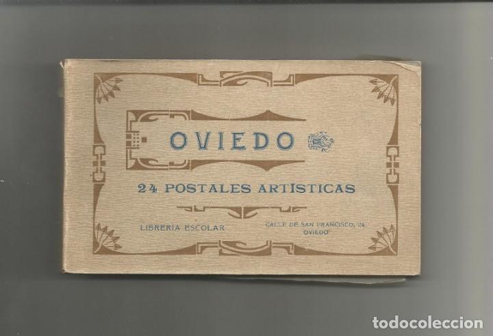 BLOC DE 24 POSTALES ARTISTICAS DE OVIEDO- FOTOTIPIA DE HAUSER Y MENET-FALTA LA TAPA TRASERA (Postales - España - Asturias Antigua (hasta 1.939))