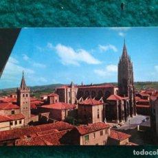 Postales: OVIEDO - CATEDRAL - CON MATASELLOS ESPECIAL DIA DE AMERICA -81 EN REVERSO. Lote 165884746