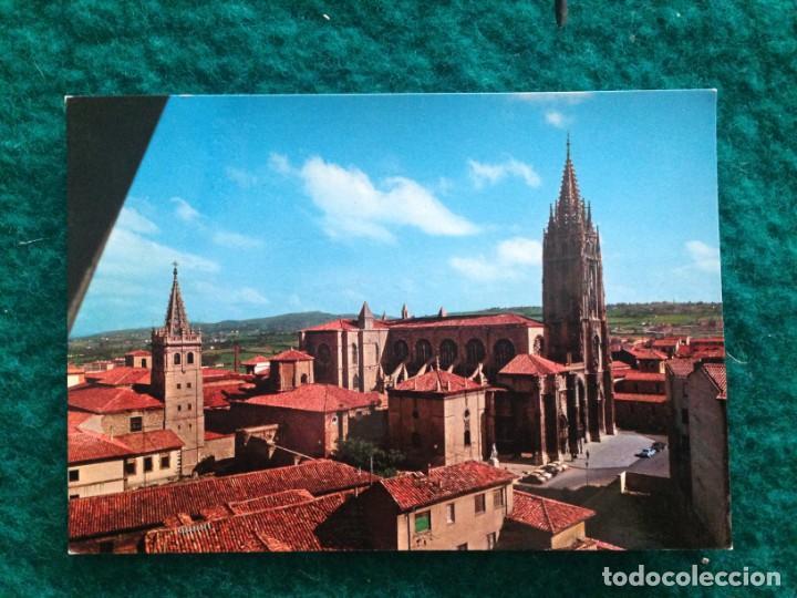 Postales: OVIEDO - CATEDRAL - CON MATASELLOS ESPECIAL DIA DE AMERICA -81 EN REVERSO - Foto 2 - 165884746