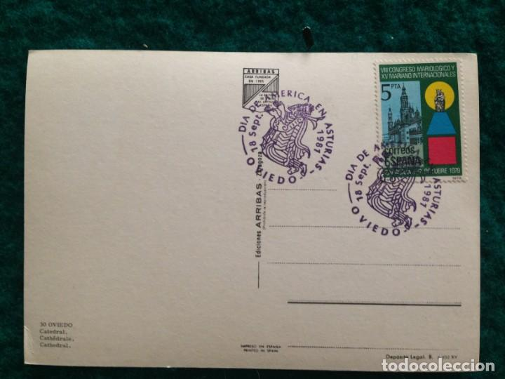 Postales: OVIEDO - CATEDRAL - CON MATASELLOS ESPECIAL DIA DE AMERICA -81 EN REVERSO - Foto 6 - 165884746