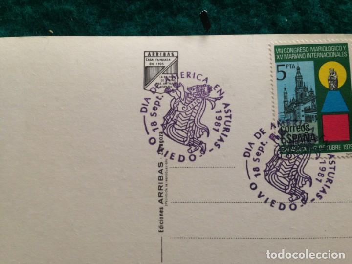 Postales: OVIEDO - CATEDRAL - CON MATASELLOS ESPECIAL DIA DE AMERICA -81 EN REVERSO - Foto 7 - 165884746