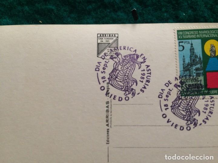 Postales: OVIEDO - CATEDRAL - CON MATASELLOS ESPECIAL DIA DE AMERICA -81 EN REVERSO - Foto 8 - 165884746