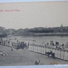 Postales: GIJON, VISTA DE LA PLAYA. Lote 166018126