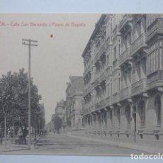 Postales: GIJON , CALLE SAN BERNARDO. Lote 166021802
