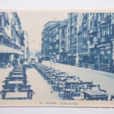 Postales: GIJON , CALLE CORRIDA. Lote 166089974