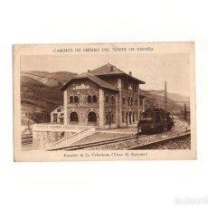 Cartes Postales: CAMINOS DE HIERRO DEL NORTE DE ESPAÑA - ESTACIÓN DELA COBERTORIA (LINEA DE ASTURIAS). FERROCARRIL.. Lote 166113646