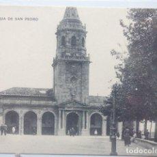 Postales: GIJON , IGLESIA DE SAN PEDRO. Lote 166141018