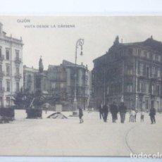 Postales: GIJON , VISTA DESDE LA DARSENA. Lote 166141382