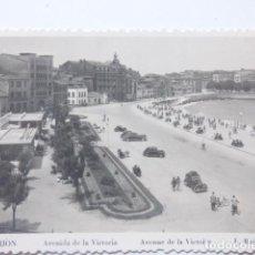 Postales: GIJON , AVENIDA DE LA VICTORIA. Lote 166145914