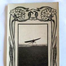 Postales: FOTOGRAFÍA POSTAL DE L. VINCK. AVIADOR GARNIER, 1908, ASTURIAS.. Lote 166510665
