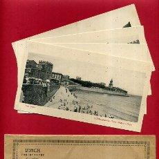 Postales: POSTAL , LOTE DE 4 POSTALES DE GIJON ANTIGUAS , COLECCION VINCK , CON EL SOBRE , 9,50 X 17,50 CMS.. Lote 167521384