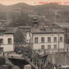 Postales: FABRICA DE TRUBIA. 2 SALIDA DE OBREROS. ED. FEDRIANI HERMANAS. Lote 168041784