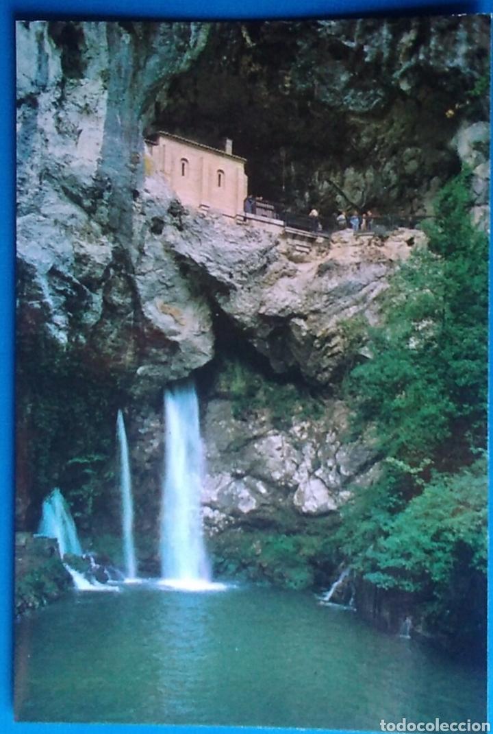 POSTAL ASTURIAS COVADONGA 87 GRUTA Y CASCADA EDICIONES ARRIBAS (Postales - España - Asturias Moderna (desde 1.940))