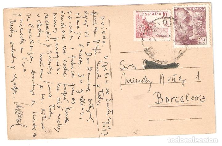 Postales: Oviedo. Horreos. escrita, con matasellos. años 40.. Vell i Bell - Foto 2 - 168167380