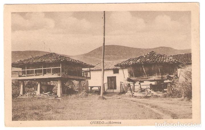 OVIEDO. HORREOS. ESCRITA, CON MATASELLOS. AÑOS 40.. VELL I BELL (Postales - España - Asturias Moderna (desde 1.940))