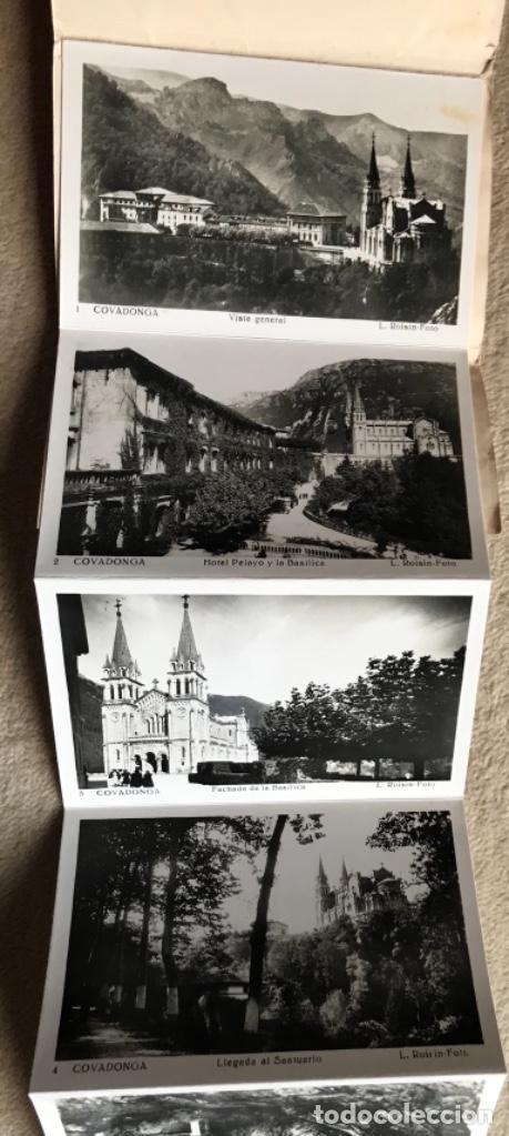Postales: Santuario de nuestra señora de Covadonga (Asturias) - cuadernillo álbum 10 postales - L. Roisin foto - Foto 2 - 168233828