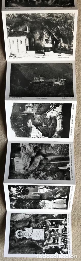 Postales: Santuario de nuestra señora de Covadonga (Asturias) - cuadernillo álbum 10 postales - L. Roisin foto - Foto 3 - 168233828