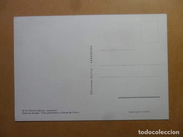 Postales: POSTAL - 76 - TIELVE (ASTURIAS) - PICOS DE EUROPA, VISTA PANORAMICA Y SIERRA DE TIELVE - ED. SICILIA - Foto 2 - 168255800