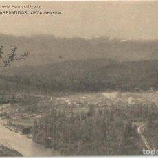 Postales: POSTAL DE ASTURIAS LIBRERIA ESCOLAR OVIEDO-FOT HAUSER Y MENET-ARRIONDAS VISTA GENERAL-SIN CIRCULAR. Lote 169597892