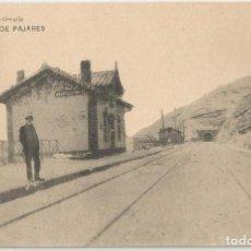Postales: POSTAL DE ASTURIAS LIBRERIA ESCOLAR OVIEDO-FOT HAUSER Y MENET-ESTACION DE PAJARES-SIN CIRCULAR. Lote 169601056