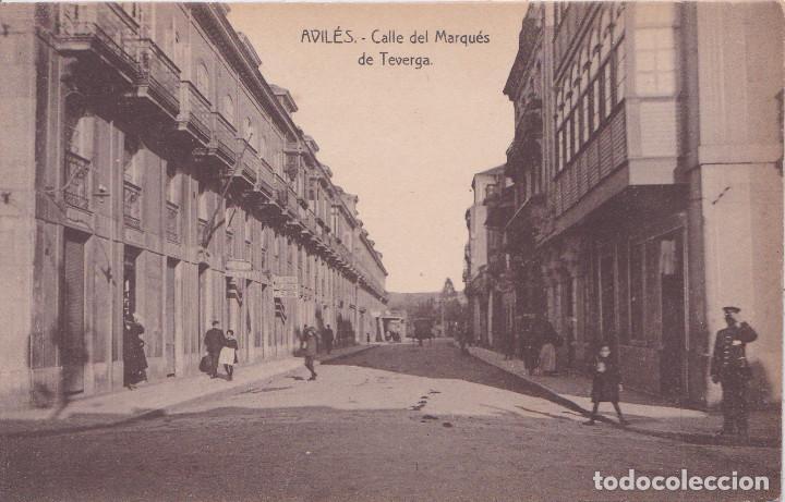 AVILES (ASTURIAS) - CALLE DEL MARQUES DE TEVERGA (Postales - España - Asturias Antigua (hasta 1.939))